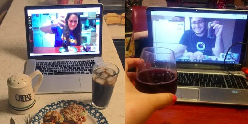 long distance dinner date