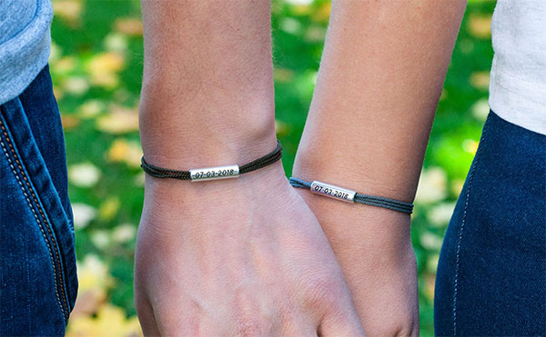 his and hers microcord bracelets