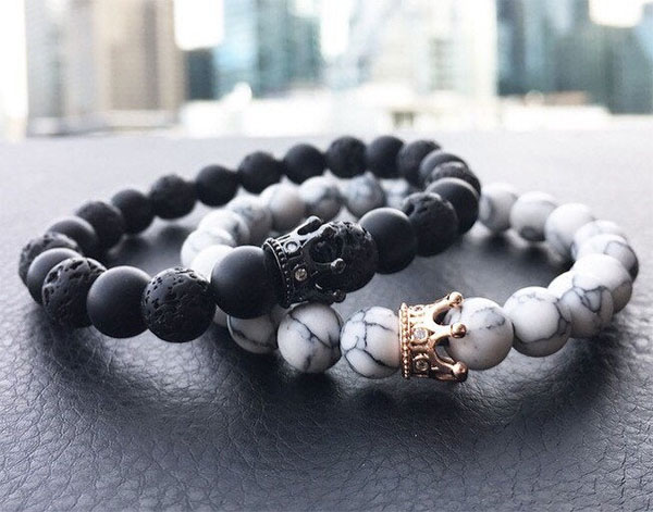 king and queen stone bracelets