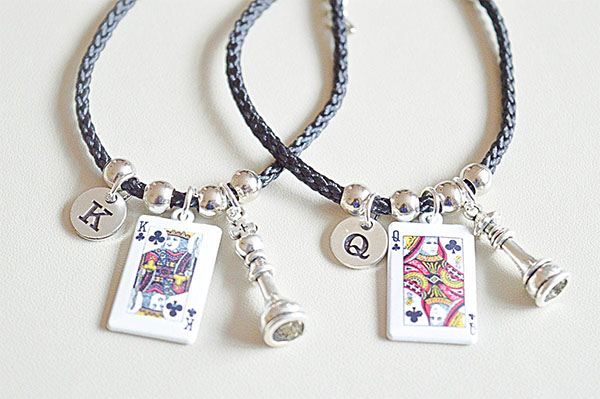 king and queen charm bracelets