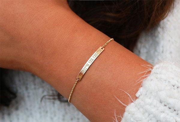 coordinates bar bracelet