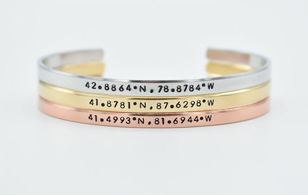 thin cuff coordinates bracelet