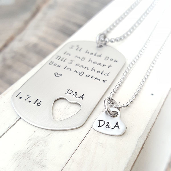 Dog Tag His & Hers Necklaces