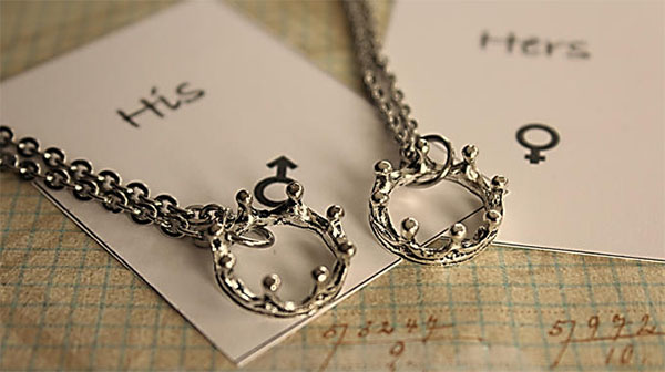Stainless Steel King & Queen Necklaces