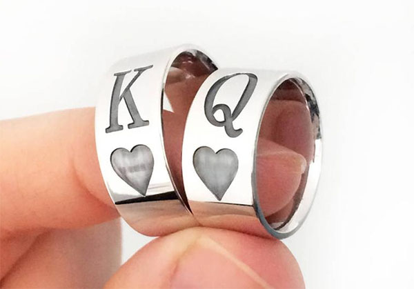 sterling silver king queen rings