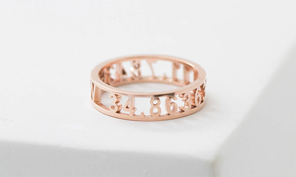 rose gold coordinates ring