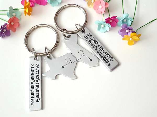 state and coordinates keychain