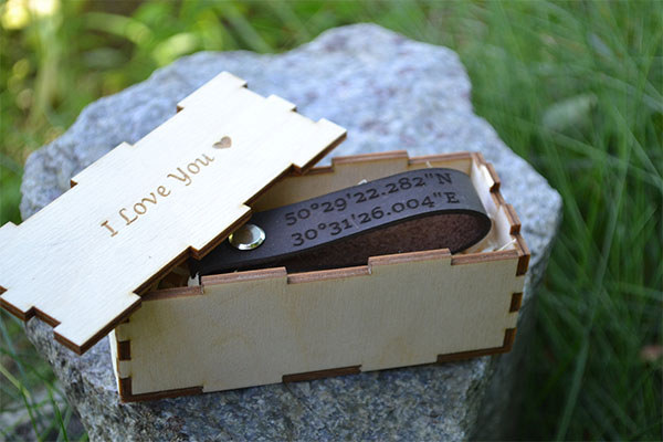 leather coordinates keychain