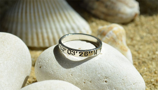 sterling silver coordinates ring