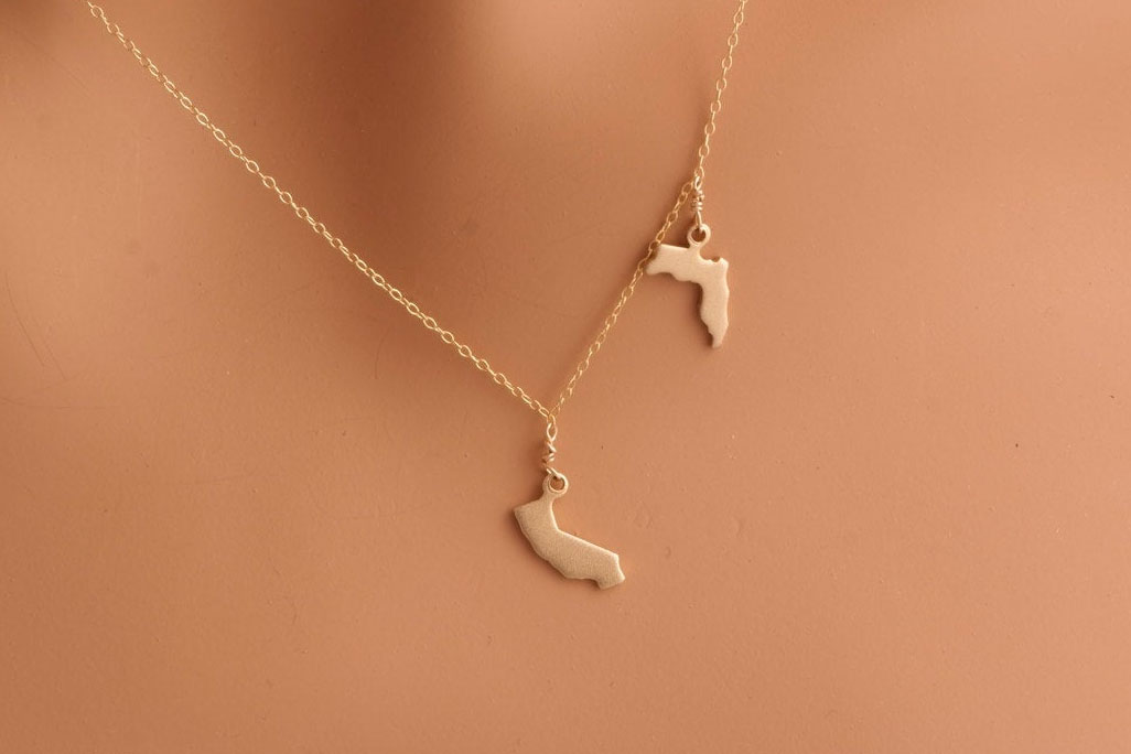 Two State Gold Necklace