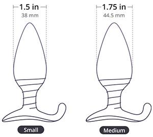 hush butt plug dimensions diagram