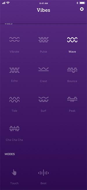 we-vibe weconnect app vibration modes