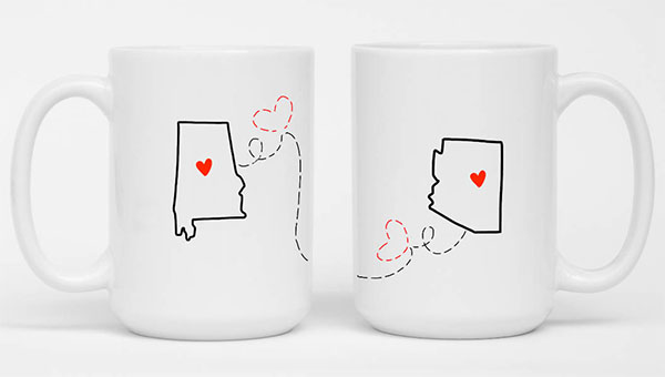 long distance state to state mugs