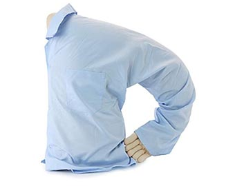 original boyfriend pillow with blue shirt