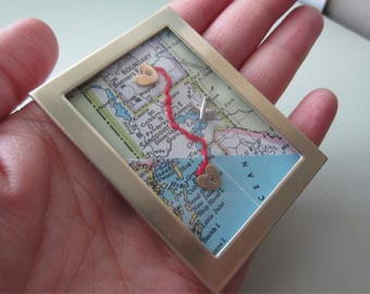 long distance relationship map gift