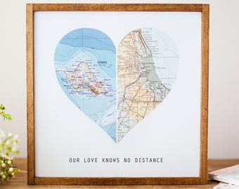 long distance heart map