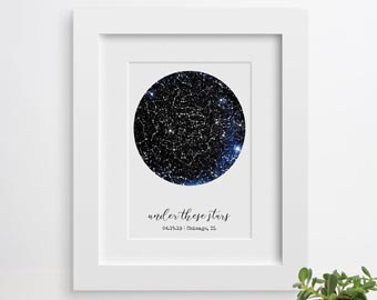constellation star map for couples