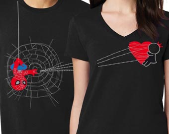 you captured my heart matching couples shirts in black