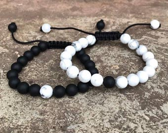 adjustable long distance beaded bracelets