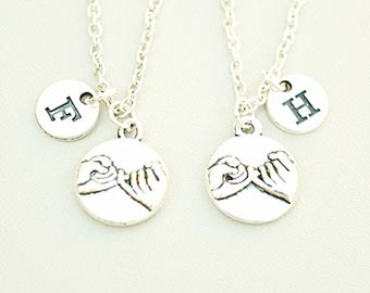 his and hers pinky promise necklaces