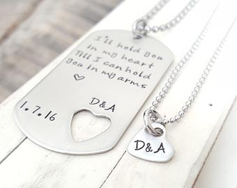 his and hers dog tag necklaces