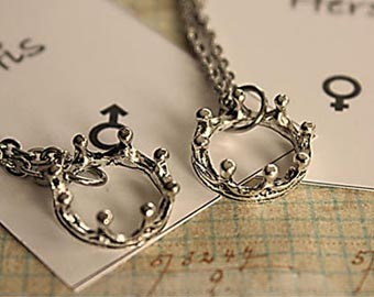 king and queen stainless steel necklaces