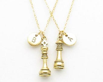 king and queen gold necklaces