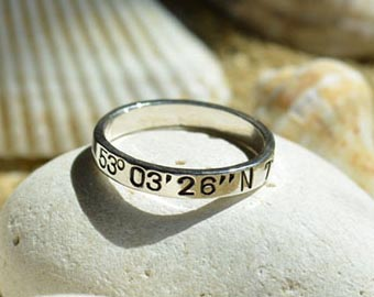 sterling silver coordinates rings