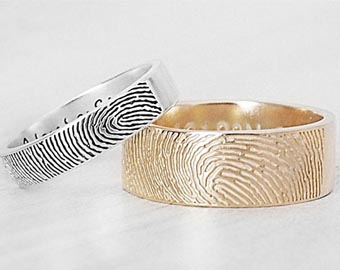 his and hers fingerprint rings