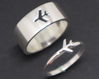 his and hers aviation rings