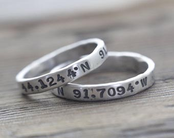 his and hers coordinates rings