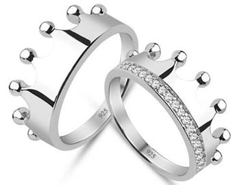 king and queen crown rings