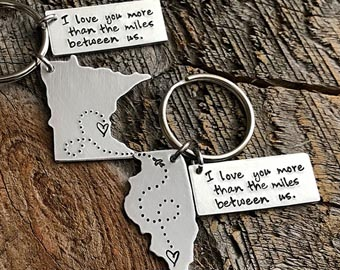 state to state long distance keychains