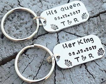 his queen her king bar keychains