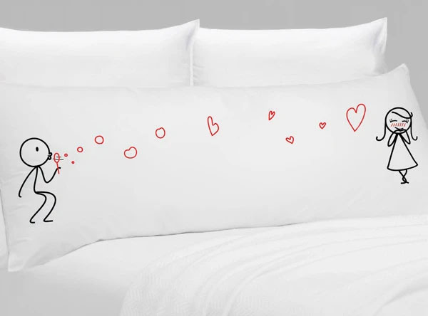 from my heart to yours body pillow by boldloft