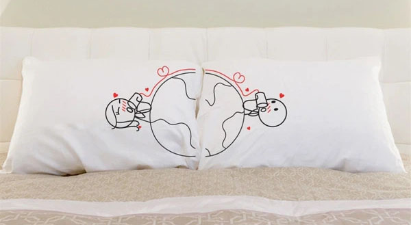 love has no distance couples pillows by boldloft