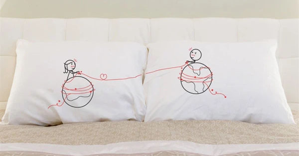you're worth every mile couples pillows by boldloft