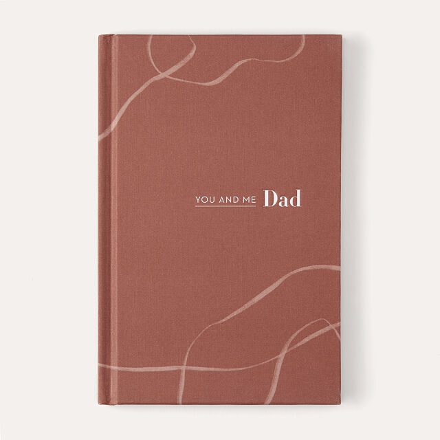 you and me dad journal in brown