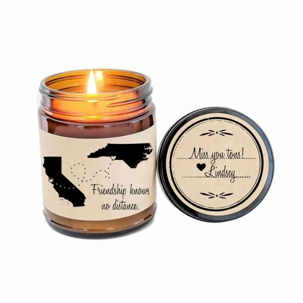 Long distance friendship candle
