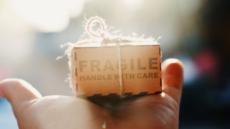 When sending a long distance friendship care package consider extra wrapping for fragile items.