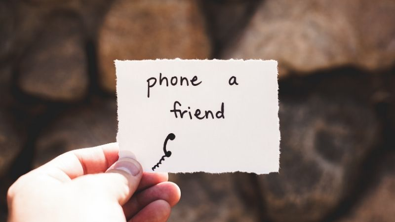 Stay connected in a long distance friendship by listening to your friend.