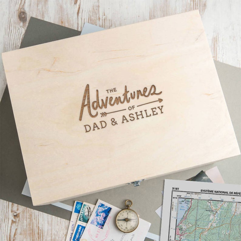 Wooden personalized memory box