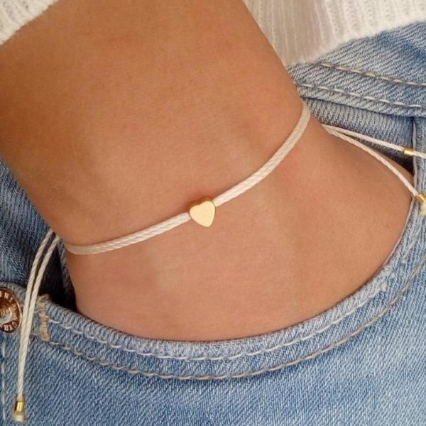 Tiny Heart Adjustable Friendship Bracelets by Queen Handmades