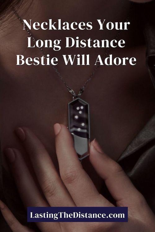 long distance friendship necklaces pinterest image