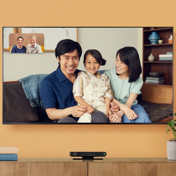 portal tv video call with long distance family