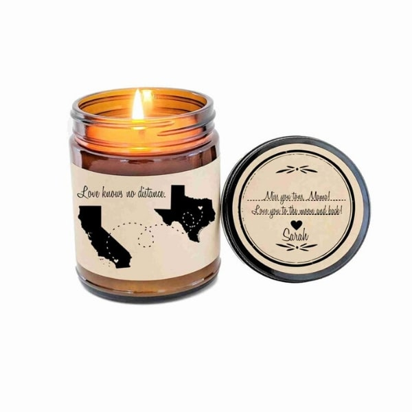 customizable candle gifts for long distance moms