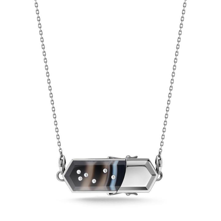 talsam black sardonyx necklace