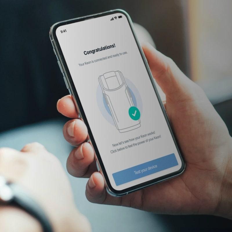 feelconnect app connecting kiiroo device KEON