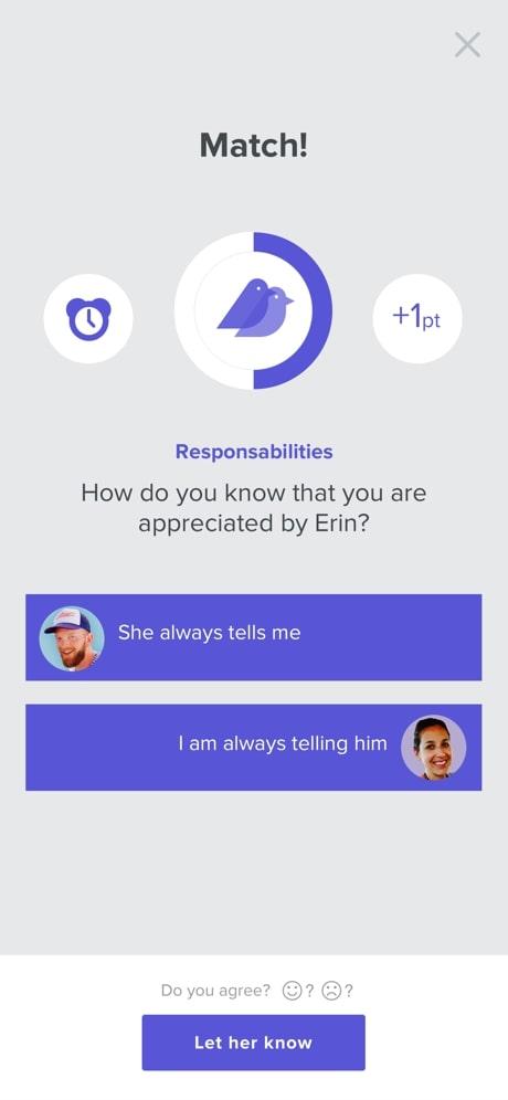 happy couple app quiz answers match