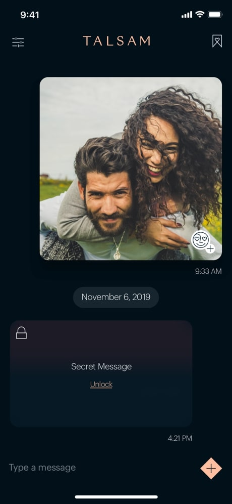 talsam app secret messaging feature